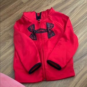 Under Armor red hoodie jacket size 4